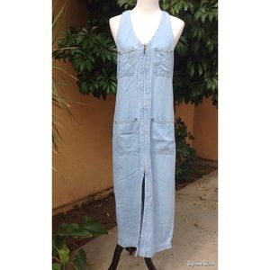 Vintage Philosophy light wash Denim Jumpsuit Dress